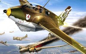 Картинка Messerschmitt, Komet, Me.163, немецкий ракетный истребитель-перехватчик