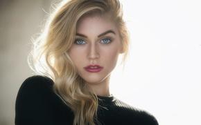 Картинка girl, long hair, photo, photographer, blue eyes, model, beauty, lips, face, blonde, portrait, mole, mouth, …