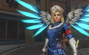 Картинка крылья, OVERWATCH, Mercy Combat Medic Ziegler Character Skin