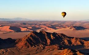 Картинка Landscape, Mountain, Africa, View, Desert, Ballooning