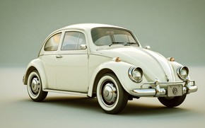 Картинка арт, машинка, Volkswagen Beetle, The Beetle, Raoni Nery