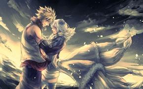 Картинка anime, art, fairy tail, Sting Eucliffe, Yukino Aguria