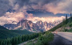 Картинка дорога, облака, горы, красота