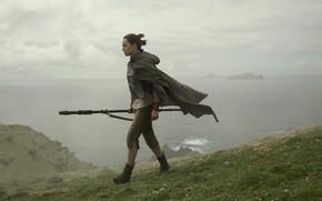 Картинка Star Wars, копье, Звёздные Войны, Rey, Daisy Ridley