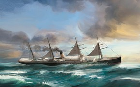 Картинка корабль, Dominik Mayer, Transatlantic - Ships, adriatic
