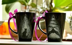 Картинка ленты, чашки, cups