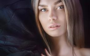 Картинка взгляд, лицо, волосы, портрет, Мария, Alexander Drobkov-Light