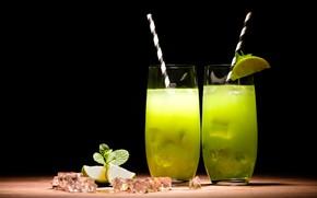 Картинка коктейль, Напиток, трубочка
