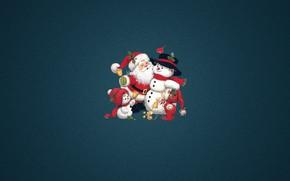 Картинка Минимализм, Рождество, Костюм, Ребенок, Новый год, Санта, Праздник, Санта Клаус, Клаус, Санта-Клаус, Снеговики, Снеговик, Дедушка, …
