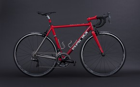 Картинка красный, дизайн, велосипед, стиль, фон
