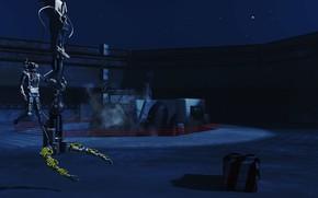 Картинка робот, звёзды, ICBM Droid