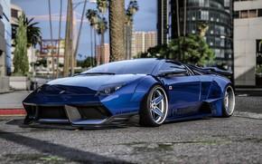 Картинка город, Lamborghini, GTA, Grand Theft Auto V