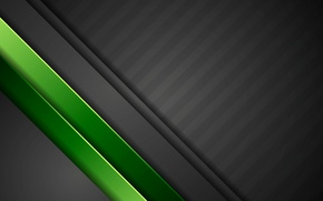 Обои green, vector, abstract, black, design, art, background, material
