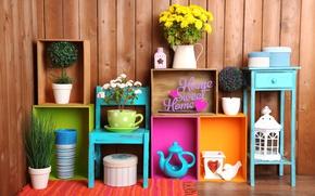 Картинка цветы, надпись, concept, box, декор, decor