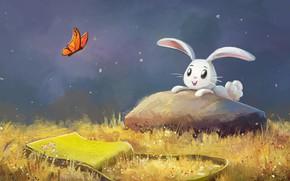 Картинка природа, бабочка, зайчик, by aJVL