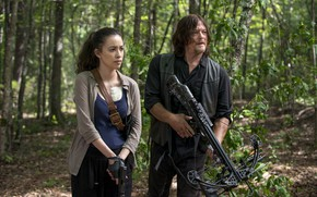 Картинка Norman Reedus, Daryl, Walking Dead, Christian Serratos, Rosita
