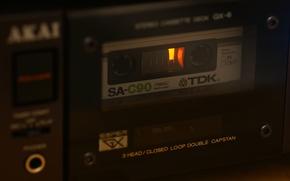 Обои AKAI GX-6, макро, кассета, TDK SA-C90