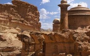 Картинка планета, башни, строения, daytime, jabbas palace