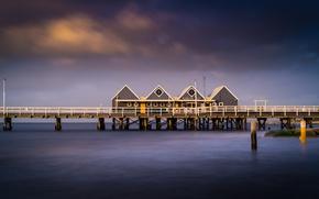 Картинка море, пристань, причал, Western Australia, Busselton Jetty