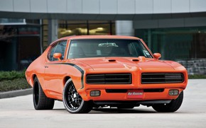 Картинка 1969, Orange, Tuning, Muscle car, Pontiac GTO