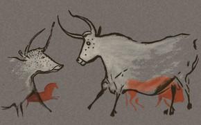 Картинка звери, стена, рисунок