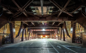 Обои Wells Street, мост, опора, Чикаго США