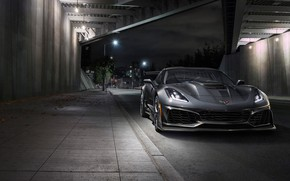 Обои Corvette, вид спереди, 2019, ZR1, Chevrolet