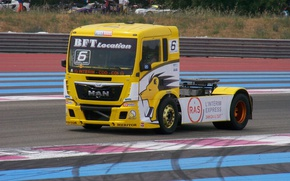 Картинка truck, racing, Man
