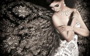 Картинка девушка, украшения, платье, Lori Novo