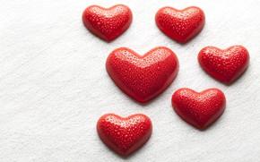 Картинка вода, капли, любовь, сердце, сердечки, love, heart, romantic, Valentine's Day