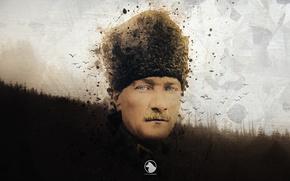 Картинка Türkiye Cumhuriyeti, Sari Zeybek, First President of the Republic of Turkey, Atatürk, Mustapha kemal atatürk