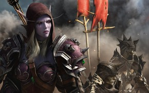 Картинка World Of Warcraft, Silvanas Windrunner, Битва за Азерот, Отрёкшиеся