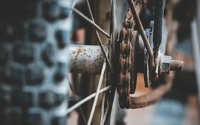 Обои колесо, цепь, велосипед