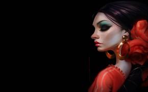 Картинка девушка, арт, танцовщица, Rocio de Flamenco, Daniel Orive