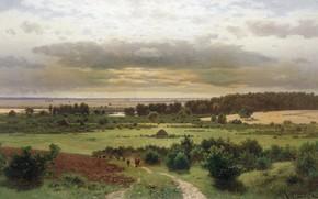 Обои Константин Крыжицкий, картина, Лесные Дали, пейзаж, природа
