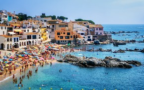Картинка пляж, город, здание, причал, Европа, архитектура, Travel, Cities, Architecture, European, Monuments, Butiful