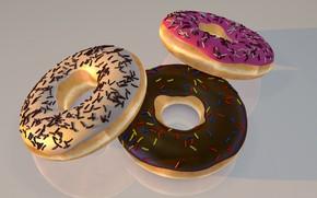 Картинка сладости, пончики, выпечка
