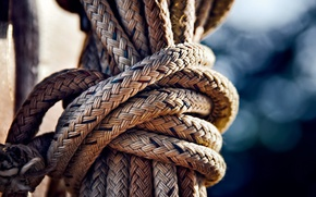 Картинка узел, верёвка, боке