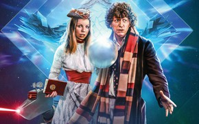 Обои шар, шарф, Doctor Who, Доктор Кто, Fourth Doctor, Romana, Четвёртый Доктор