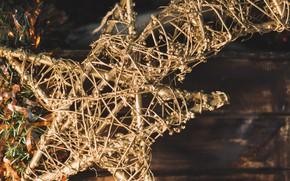 Картинка звезда, новый год, декор