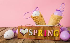 Картинка яйца, весна, Пасха, spring, Easter, eggs, decoration, Happy