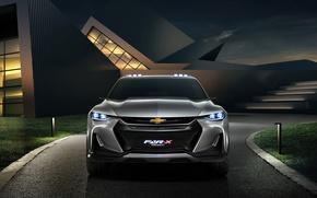 Обои logo, car, Chevrolet Fnr X, Chevrolet