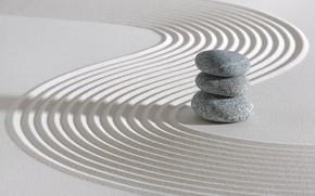 Обои энергия, камень, Япония, сад, Japan, stone, Дзен, energy, garden, философия, Zen, sand monk