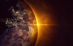 Обои Europe, Spain, planet earth, sun