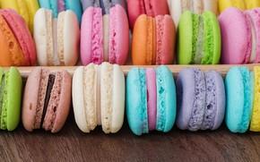 Обои colorful, десерт, пирожные, сладкое, sweet, dessert, macaroon, french, macaron, макаруны