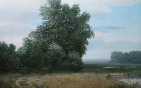 Картинка облака, деревья, пейзаж, болотистая местность, Караганда, Айбек Бегалин, 2010г