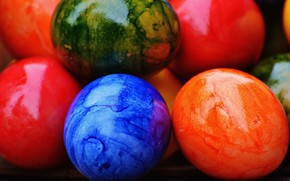 Картинка colorful, Пасха, rainbow, Easter, eggs, decoration, Happy, яйца крашеные