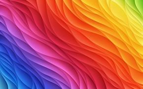 Обои background, colored, колор, wavy, абстракция, фон, abstract, радуга, Rainbow