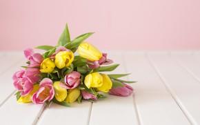 Картинка цветы, фон, букет, весна, тюльпаны, flowers, background, tulips, spring, bouquet