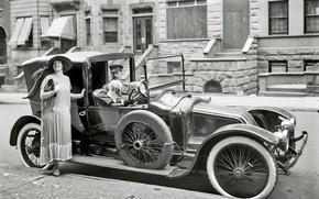 Картинка ретро, Ford, США, автомобиль, 1916-й год